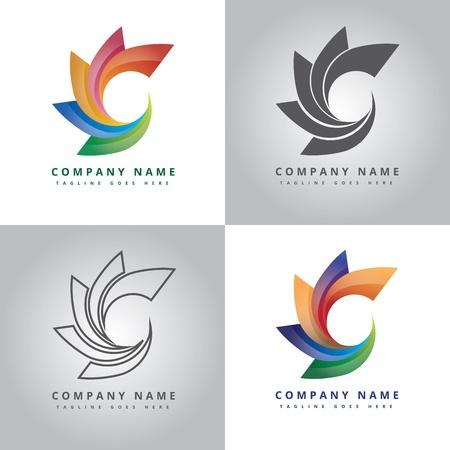 Circle icon design inspiration Ilustrace