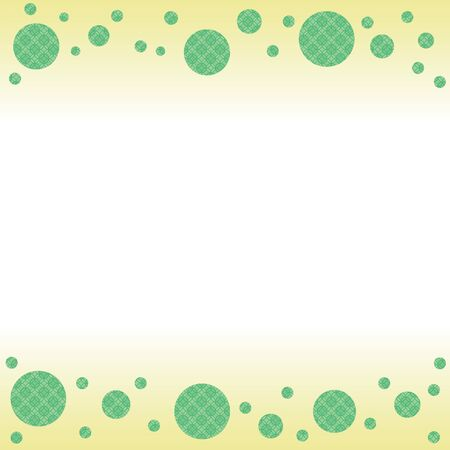 Frame green color using a traditional Japanese pattern cloisonne pattern
