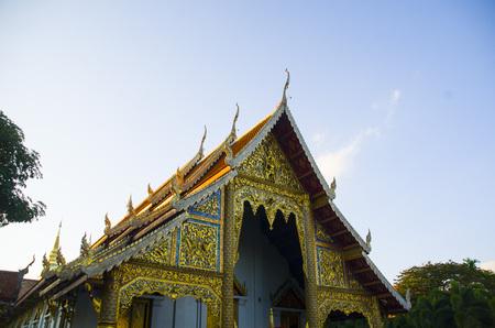 Thai temple in Chiangmai Thailand