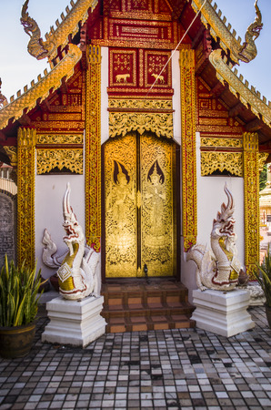The Wat Muen Ngoen Kong in the old walled town of Chiang Mai