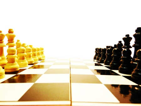 began: battle began, white moves first Stock Photo