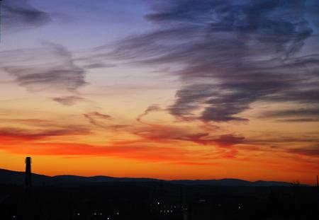 aciculum: Sunset the sun Stock Photo