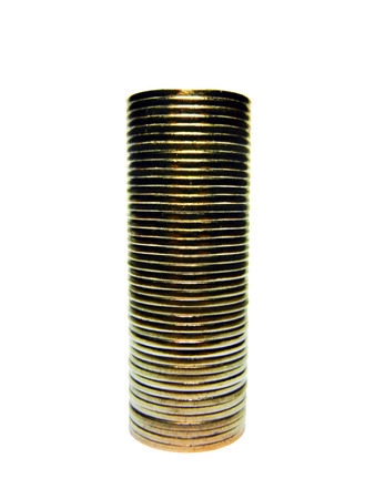 coins shot in golden color: Tower of cents