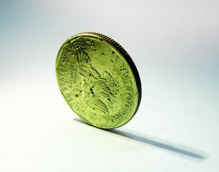 one dollar coin photo
