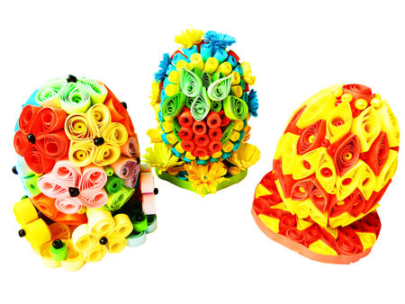 quilling: eggs with quilling