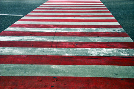 red and white crosswalk photo