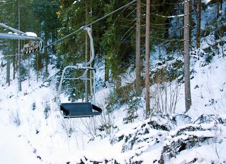 Cross-Processed Ski Lift photo