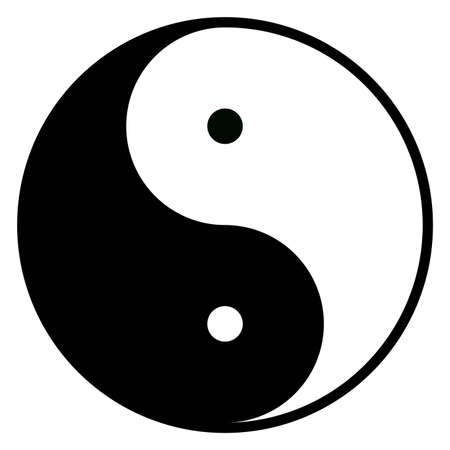 taijitu: Yin-Yang symbol of harmony, balance and opposite