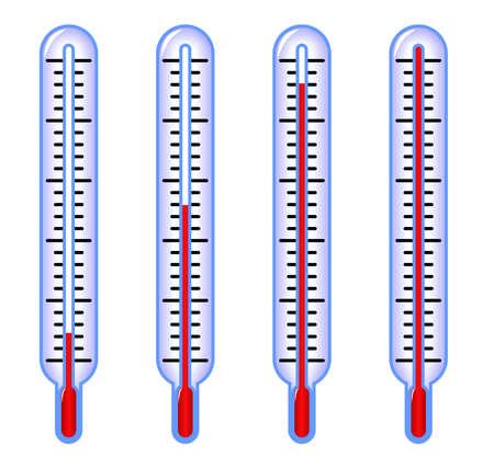 termómetros indicando baja, media y alta temperatura Foto de archivo - 4313872