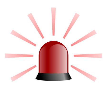 beacon light: isolated red rotating beacon