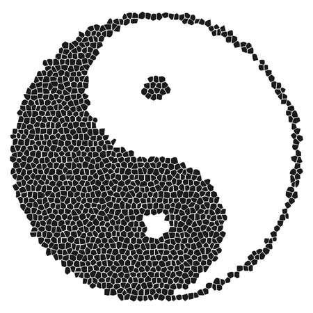 Yin-Yang Symbol Mosaic Stock Vector - 4380535