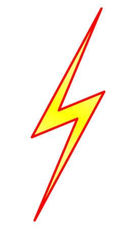 Bliksem en energie Symbool