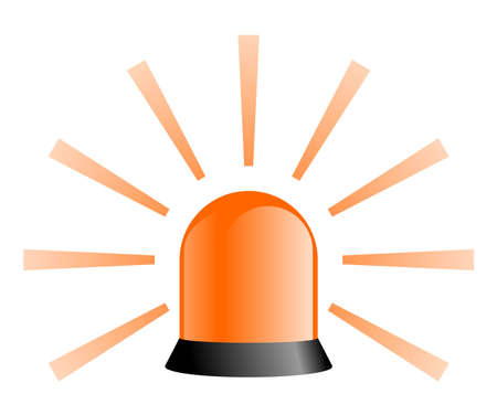 Rotating Beacon - Orange photo