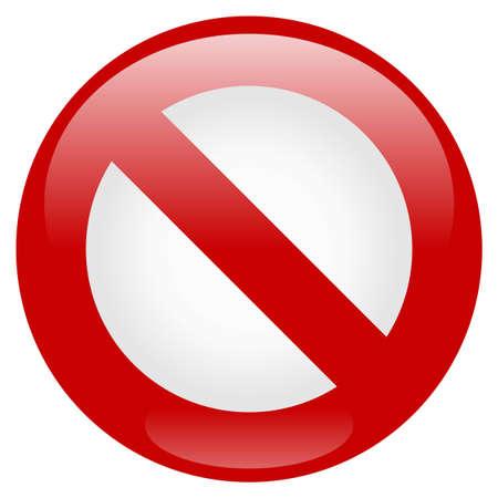 unlawful: Icono de prohibici�n Vectores