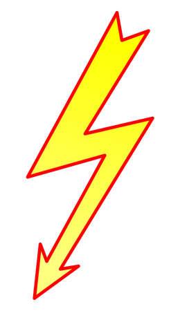 spannung: Blitz-Symbol Illustration