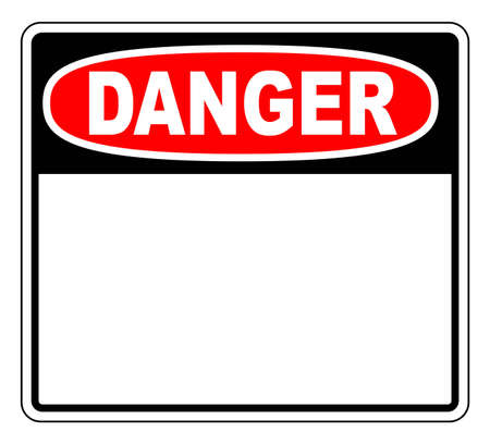 imperil: Danger Sign with blank space for your text Illustration