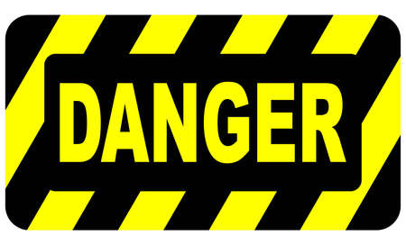 danger warning sign: Danger Sign Illustration