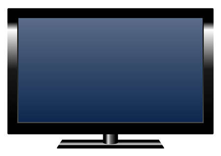 black appliances: LCD flat TV-set