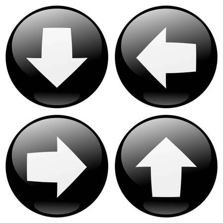 arrow left icon: Black arrows buttons