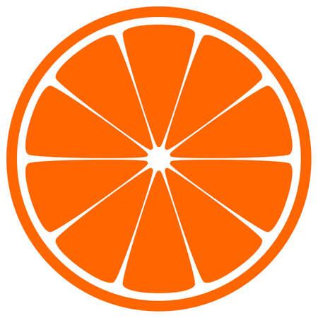 오렌지 슬라이스 일러스트