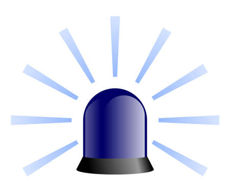 Rotating Beacon - Blue Stock Photo - 4428920