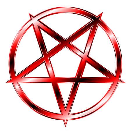 occult: Red Pentagram Illustration