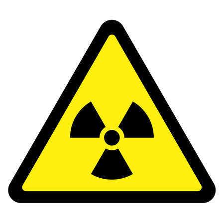triangular warning sign: Radiation - Triangular Sign