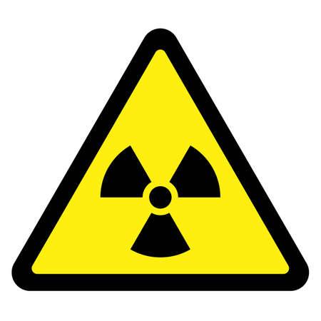 nuclear sign: Radiation - Triangular Sign