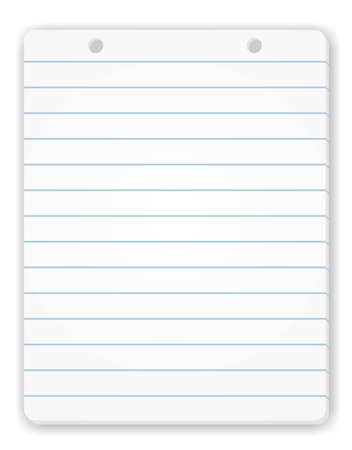 Blank Notepad Page Stock Photo - 4486427