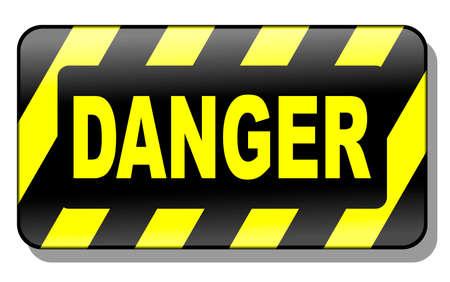 Danger Sign 3d Stock Vector - 4486423
