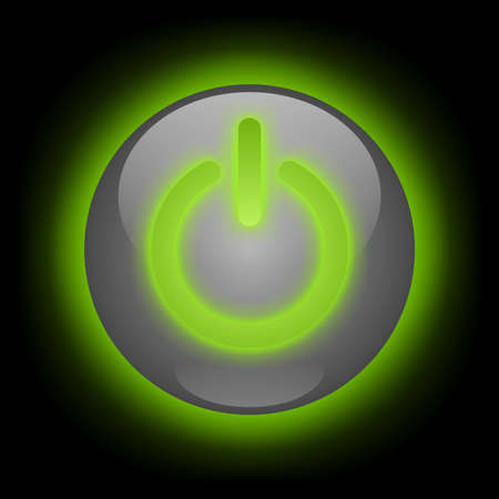 turn: Glowing Power Button