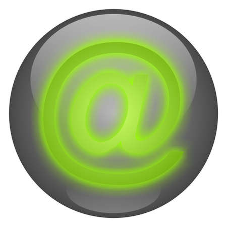 Email Button - Green on Grey Stock Photo