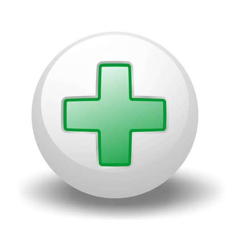 Green Cross On Ball photo