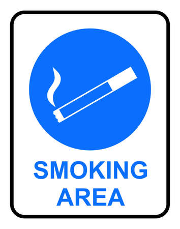 Smoking Area Sign Stock Vector - 5536866