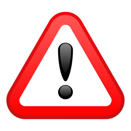 triangular warning sign: Warning Red Triangular Sign Illustration