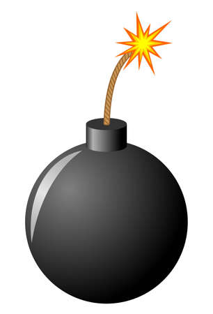 detonate: Bomb Illustration