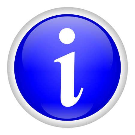 Info Button Stock Photo