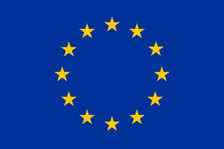 council: European Union Flag Standart Illustration
