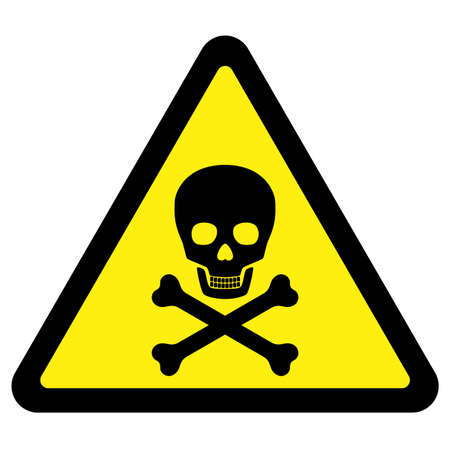Deadly Danger Sign Vector