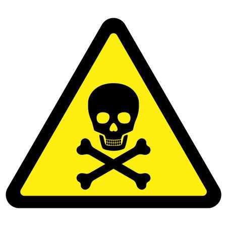mortale: Simbolo di pericolo mortale  Vettoriali