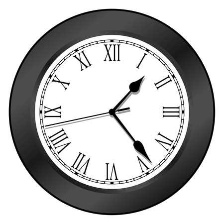 Clock - Black Stock Vector - 5683639