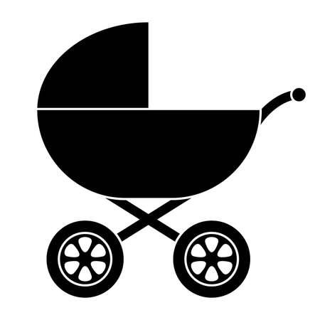 Silueta de transporte de Baby Ilustración de vector