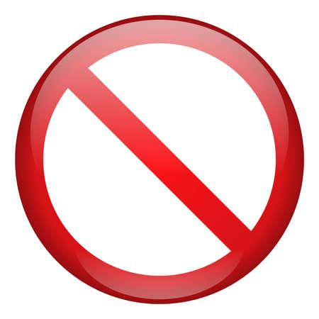 divieto: Icona di divieto