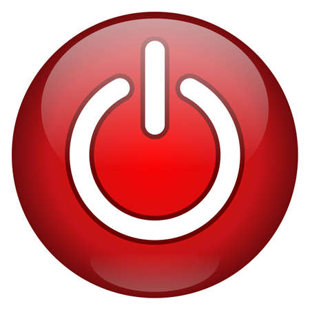 Red Power Button photo