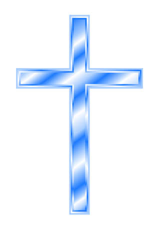 redeem: Blue Christian Cross Illustration