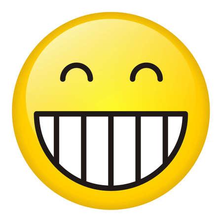 elation: Laugh icon Stock Photo