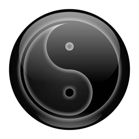 Yin-Yang Black Style Icon photo