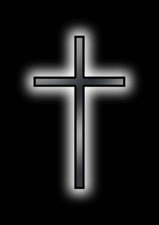 reverential: Nero Christian Cross