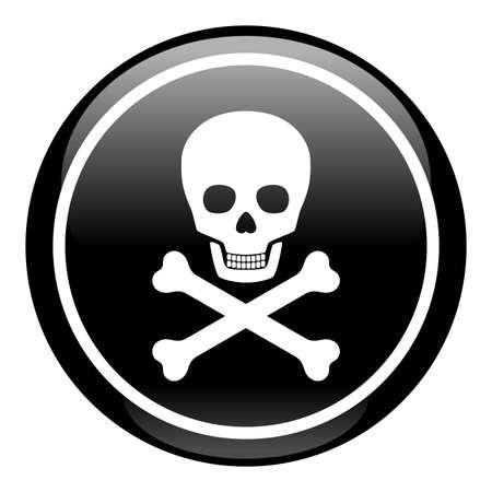 Skull On Button Stock Vector - 7079362