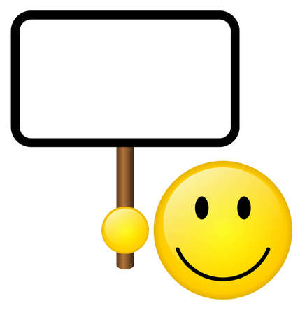 welcome sign: Smile avec tablette